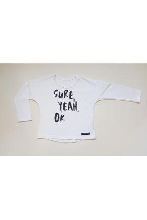 Bluzka dziecięca Sure Yeah OK Limited Edition z dlugim rękawem