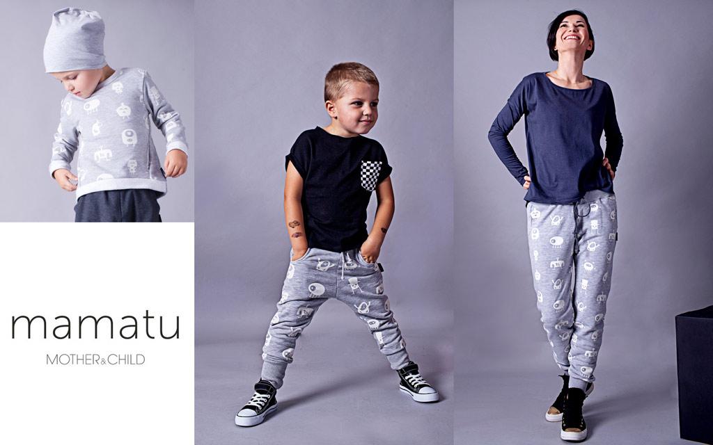 monstery spodnie dla mamy i syna