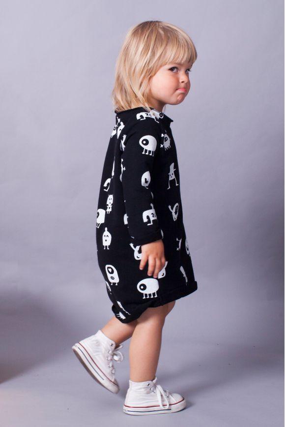 Sukienka dla dziewczynki MONSTERY czarna