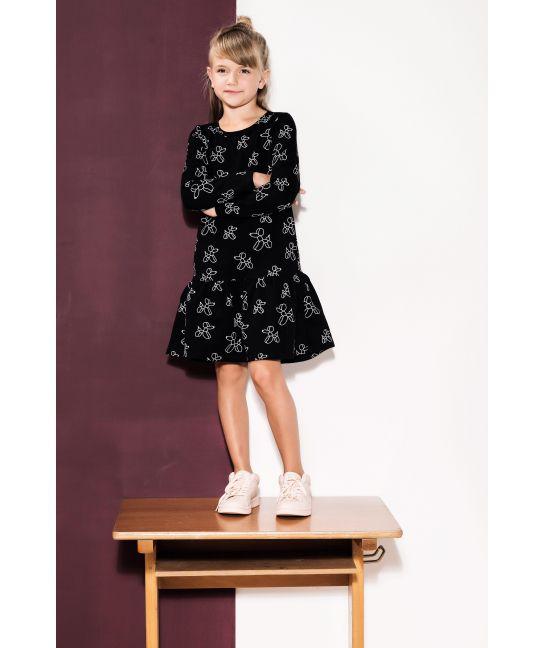 Sukienka dziecięca PIESEK CZARNY