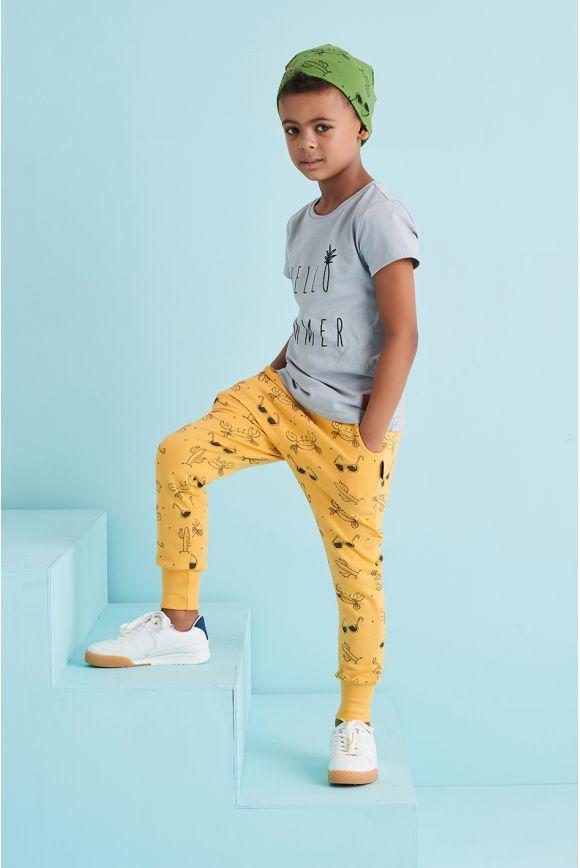 Spodnie dziecięce LATO żółte