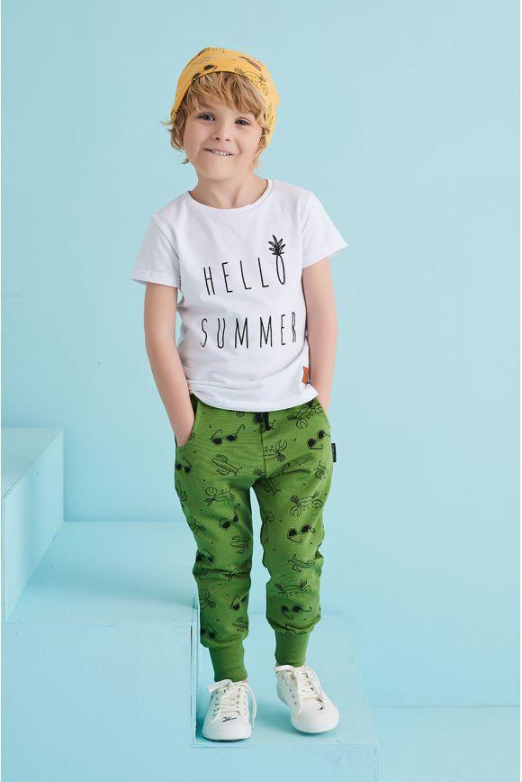 Spodnie dziecięce LATO zielone