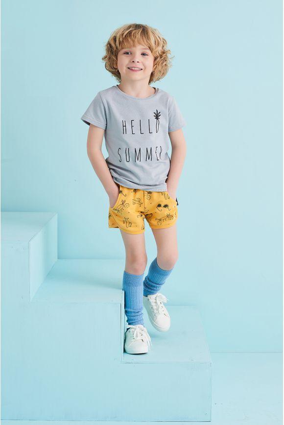 Szorty dziecięce LATO żółte