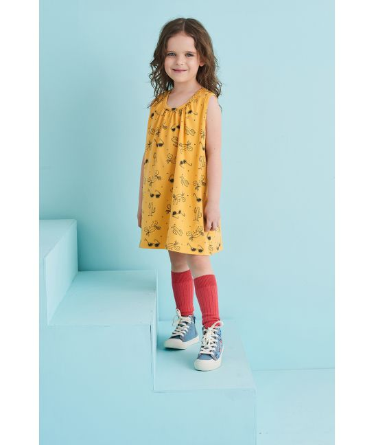 Sukienka dziecięca LATO żółta
