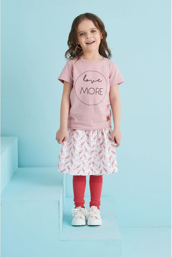 Koszulka dziecięca LOVE MORE różowa