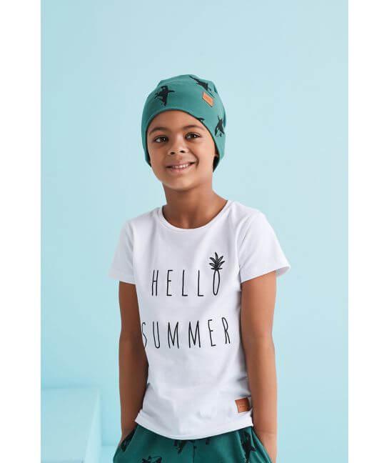 Koszulka dziecięca HALLO SUMMER biała