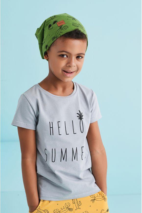 Koszulka dziecięca HALLO SUMMER szara
