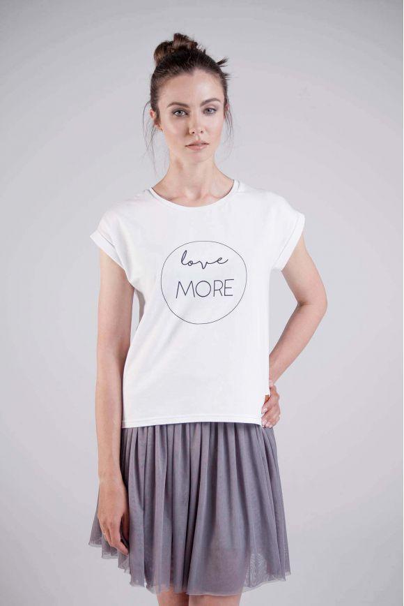 Koszulka damska biała LOVE MORE