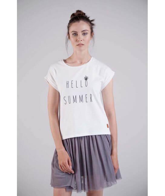 Koszulka damska biała HELLO SUMMER