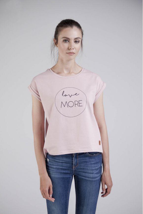 Koszulka damska różowa LOVE MORE