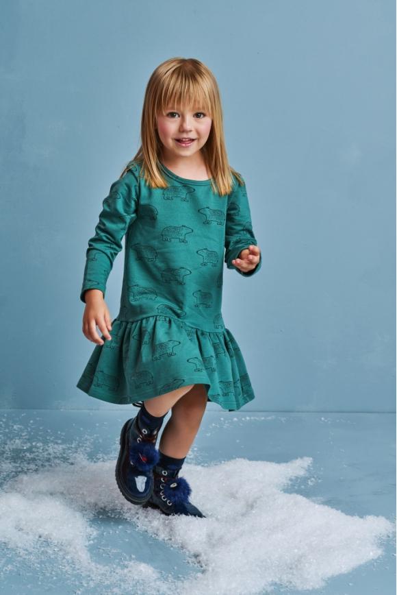 Sukienka dziecięca TEDDY BEAR morska