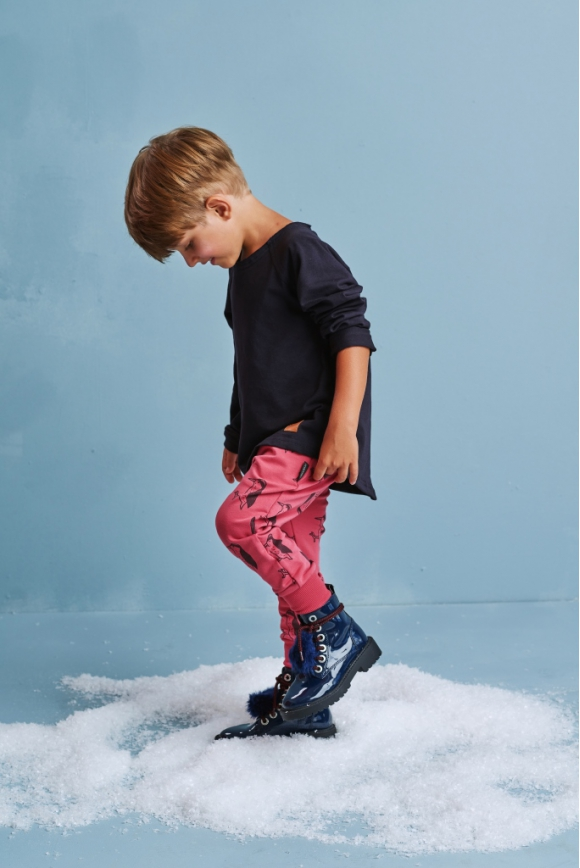 Spodnie dziecięce DZIĘCIOŁ czerwone