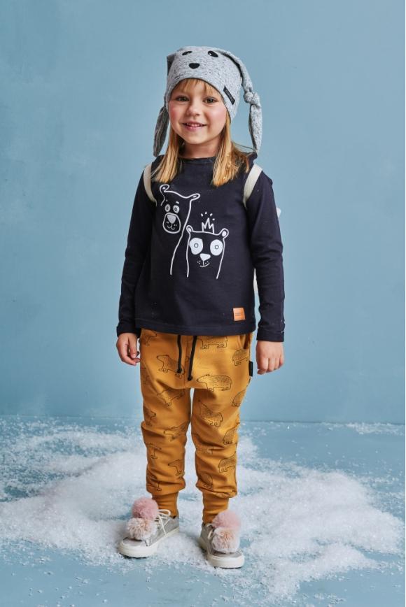 Spodnie dziecięce TEDDY BEAR musztardowe