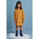 Sukienka dziecięca TEDDY BEAR musztardowa