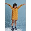 Sukienka dla dziewczynki musztardowa TEDDY BEAR