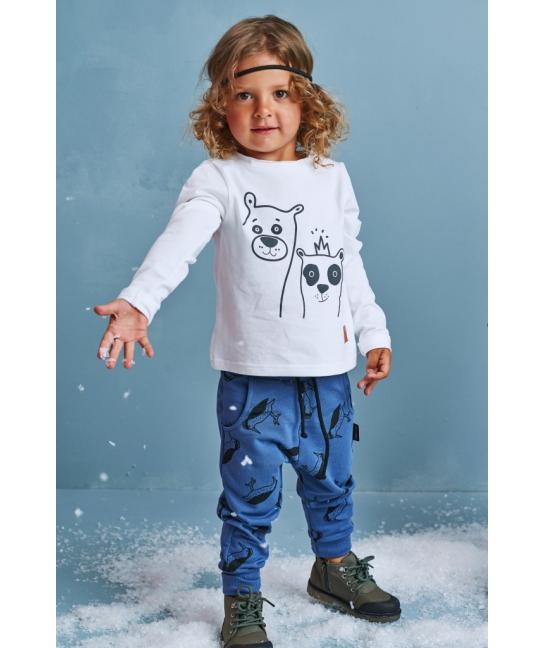 Bluzka dziecięca BASIC biała