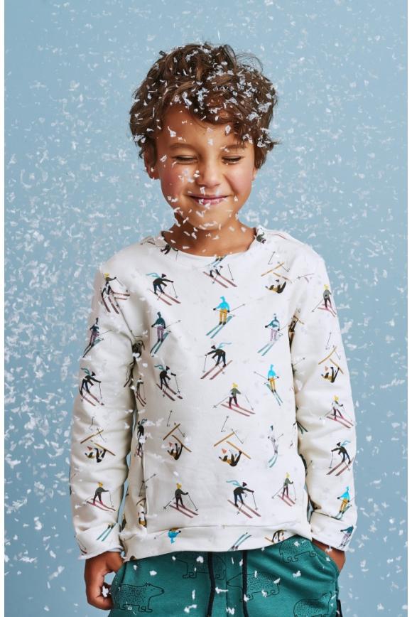 Bluza dziecięca NARCIARZE z napami