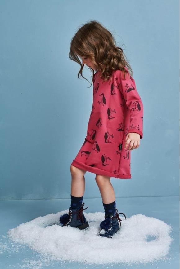 Sukienka dziecięca DZIĘCIOŁ czerwona