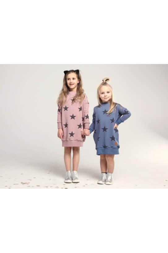 64e47604 Sukienka dla dziewczynki różowa STARS - Mamatu
