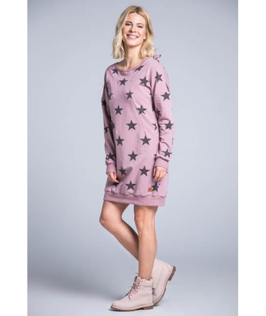 Sukienka do karmienia STARS różowa