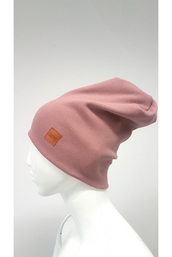 Ciepła czapka róż