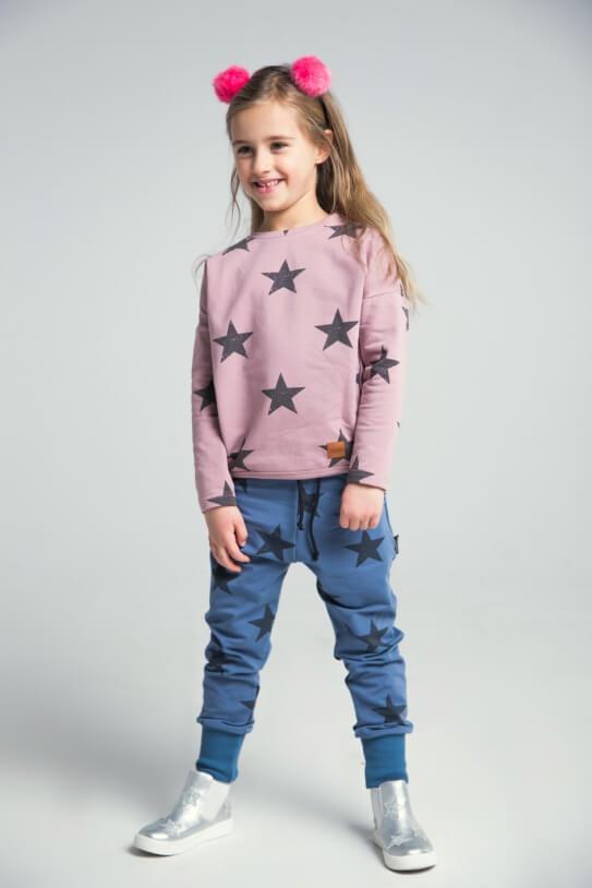 63e6d517 Bluza dziecięca STARS różowa - Mamatu