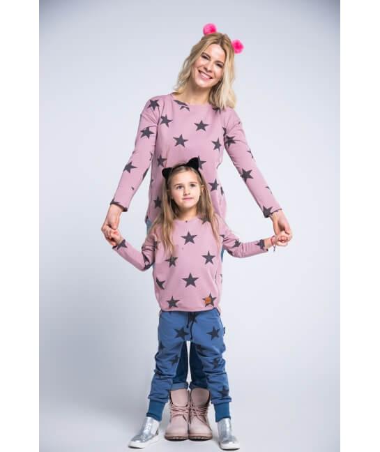Bluza damska różowa STARS