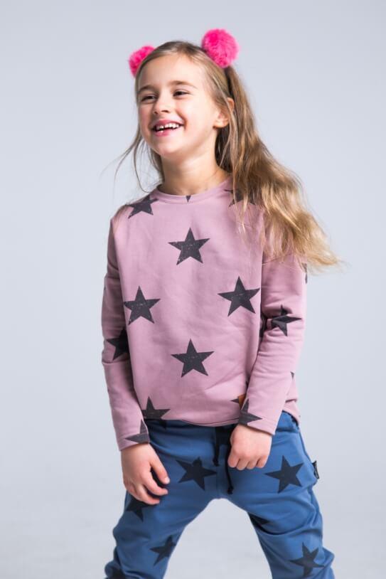00d35f96 Bluza damska różowa STARS - Mamatu
