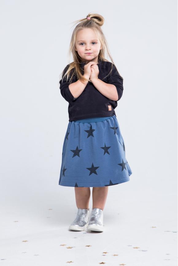 Spódnica dla dziewczynki granatowa STARS