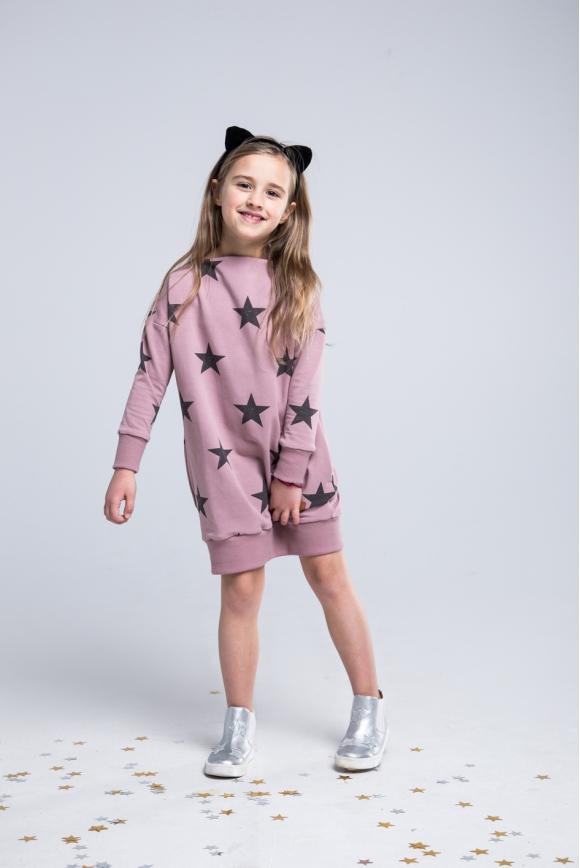 Sukienka dla dziewczynki różowa STARS