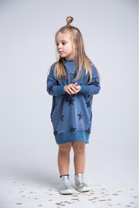 Sukienka dla dziewczynki granatowa STARS