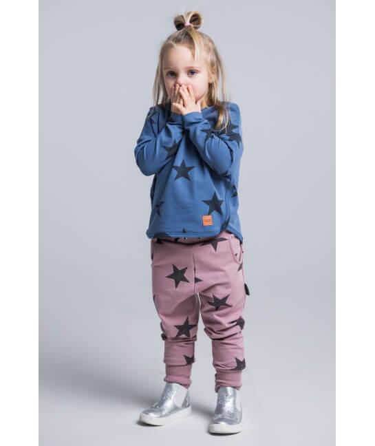 6dff3833 Spodnie dziecięce STARS różowe - Mamatu