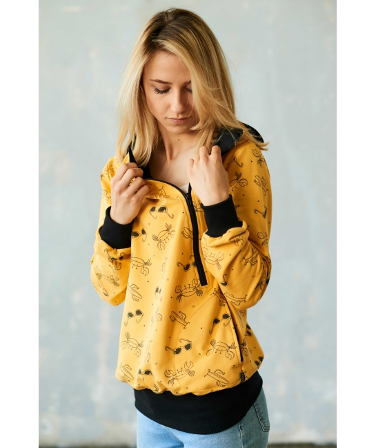Bluza do karmienia LATO żółta