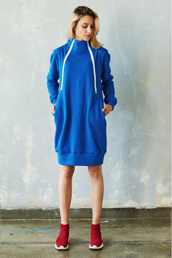 Bluzo-sukienka do karmienia BLUE