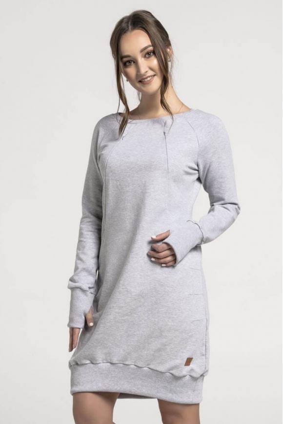 Bluzo-sukienka do karmienia piersią MELANŻ