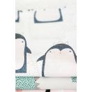 Pościel do łóżeczka z jonami srebra - PINGWINKI