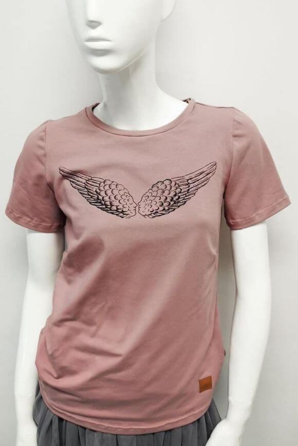 Koszulka do karmienia piersią KISS WINGS róż