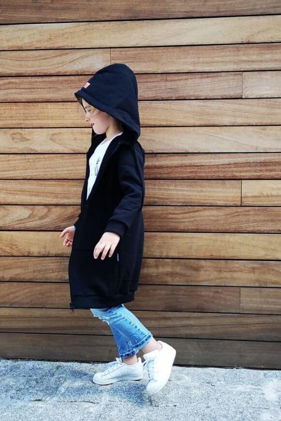 Bługa bluza dziecięca BLACK 1
