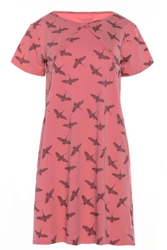 Koszula nocna do karmienia piersią Żuraw