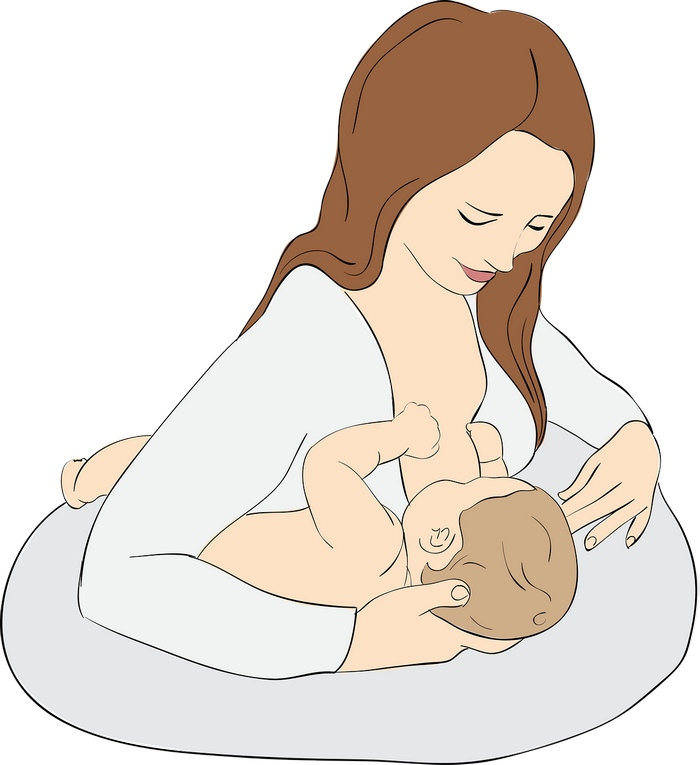 The armpit breastfeeding position