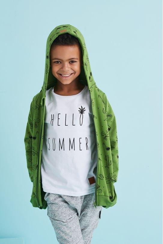 Zielona bluza dziecięca z motywem lata