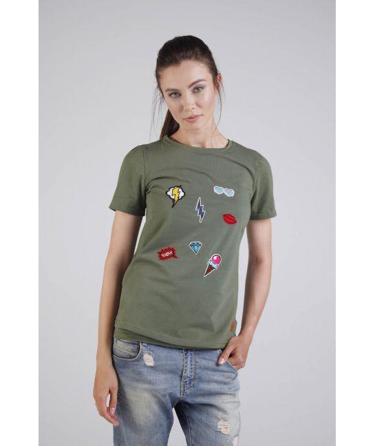 Koszulka do karmienia piersią khaki