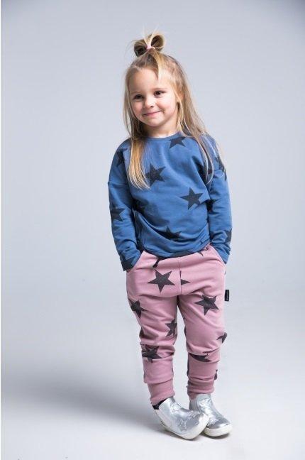 Spodnie dziecięce STARS różowe