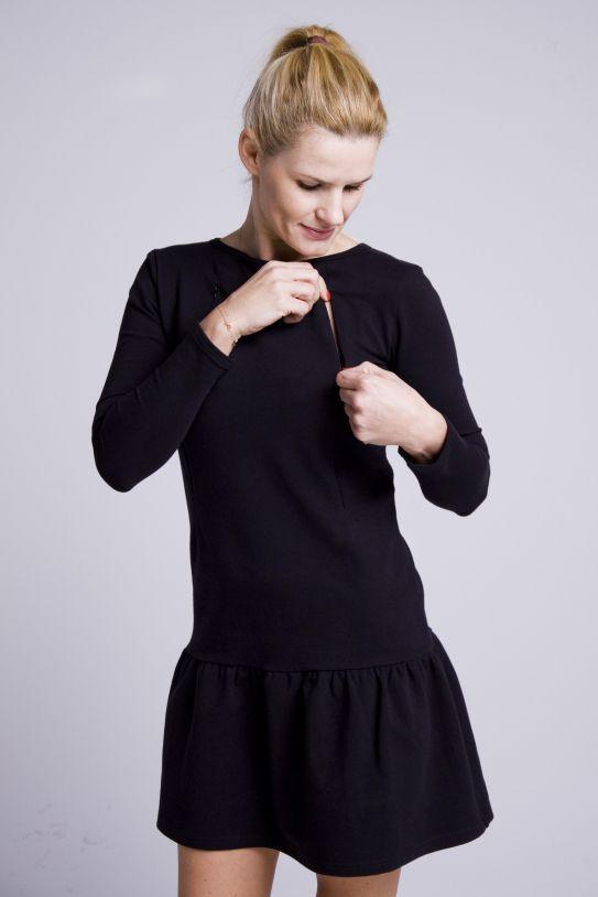 sukienka do karmienia mała czarna